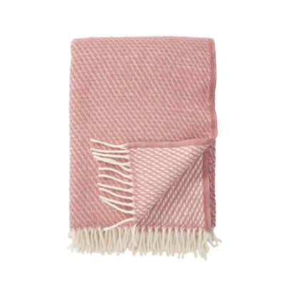 klippan lamswol deken roze