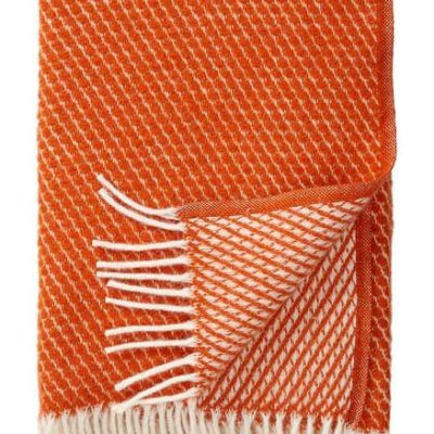 Klippan deken velvet oranje