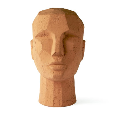 HKLIVING Abstract Sculptuur Hoofd - Terracotta