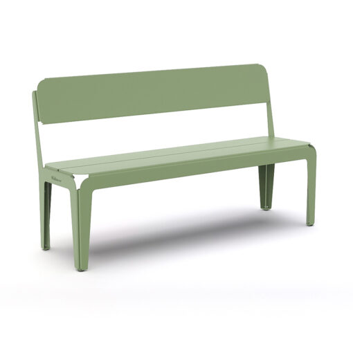 Bended Bench With Backrest