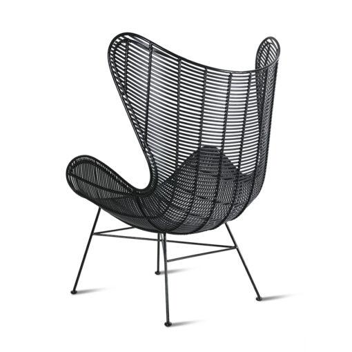 egg chair buiten zwart