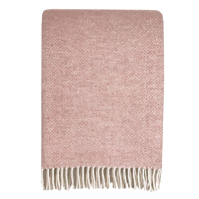 Malagoon wool throw misty pink
