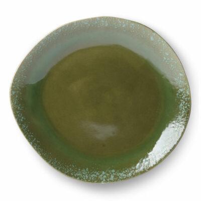 HKliving ceramics 70's dinner plate