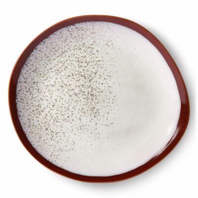 Hkliving 70's Ceramics dinner plate Frost