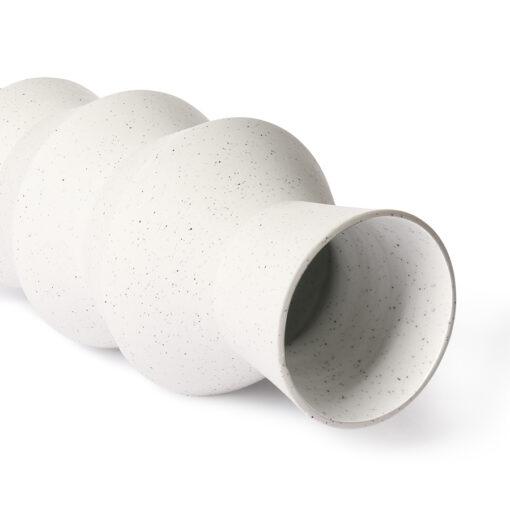 HKliving Speckled clay vase angular M