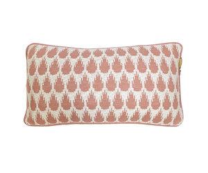 malagoon botanic knitted cushion pink