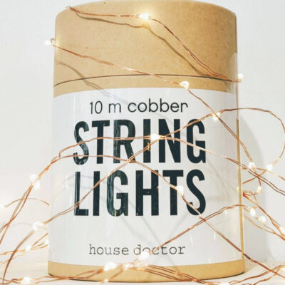 house doctor string lights copper