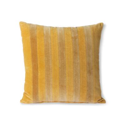 hk living kussen ochre/gold velvet striped