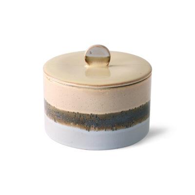 HKliving ceramics 70's cookie jar - lake