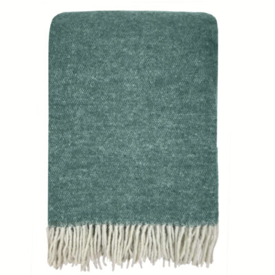 Malagoon Easy green double face recycled wool throw