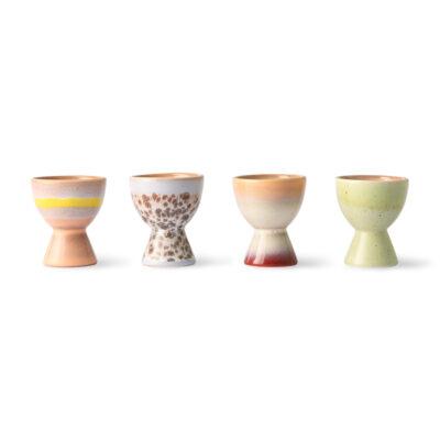 hkliving 70's ceramics eierhouders set van 4