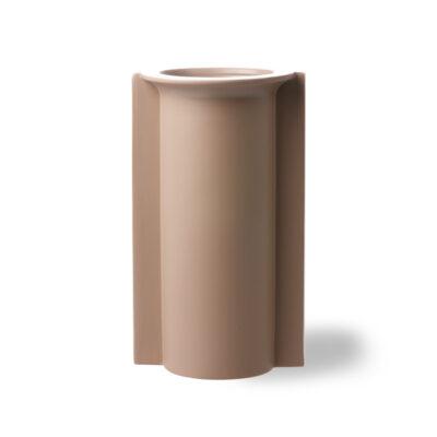 HKLIVING Mold Shape Flower Vase - Matt Mocha L