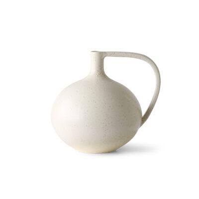 HKLIVING Ceramic Jar M - White Speckled
