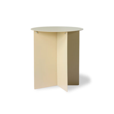 HKLIVING Metal Side Table Round - Cream