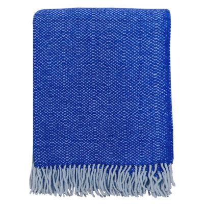 Malagoon Recycled Wool Throw – Rhinestone Blue