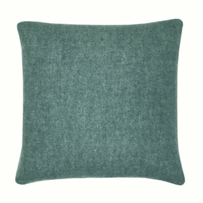 Malagoon Recycled Wool Square Cushion - Easy Green